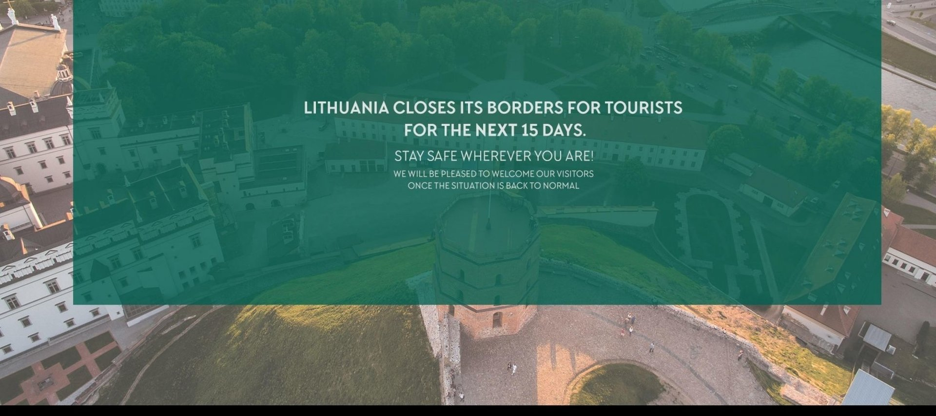 Lithuania closes borders for 15 days due to COVID-19