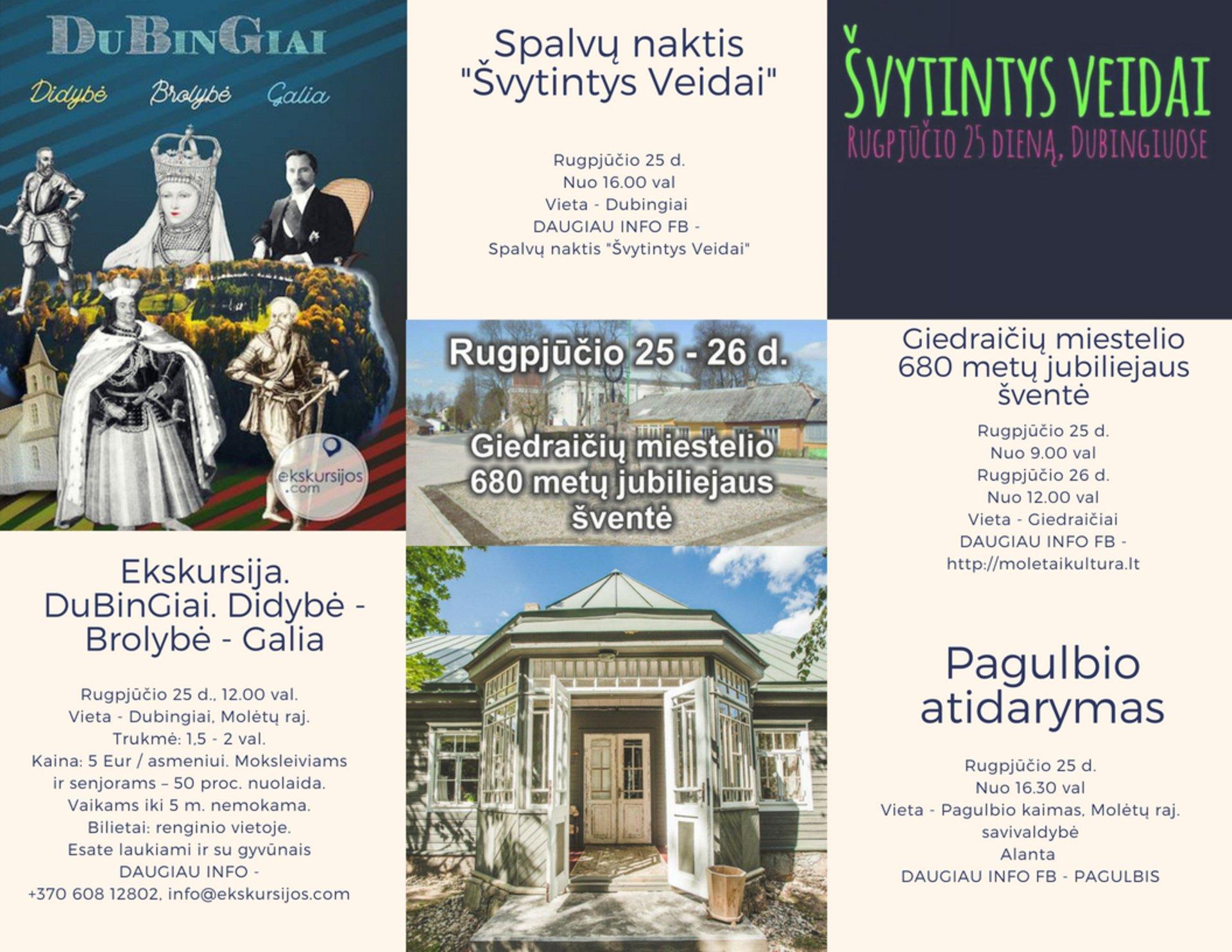 Renginių savaitgalis Molėtuose