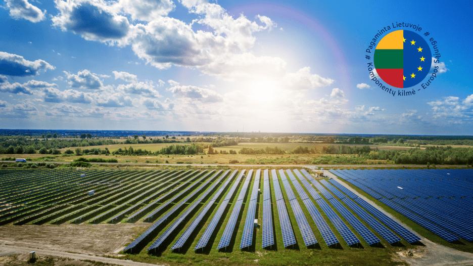 Pirmasis saulės parkas Molėtų rajone – tvaresnės plėtros link