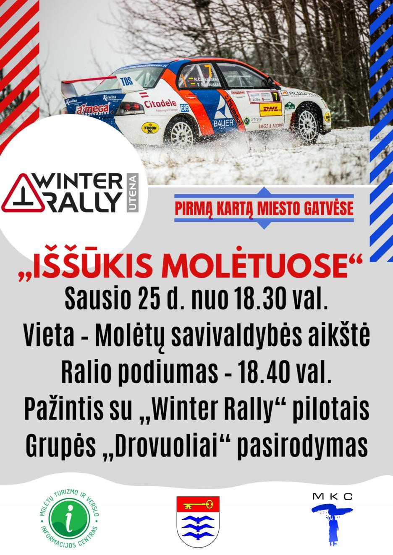 """Molėtų gatvėmis skries """"Winter Rally"""" ekipažai"""