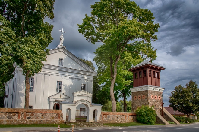 The Church and Belfry of Giedraičiai