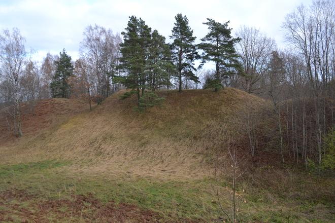 Tauragnai Hügel mit Siedlung