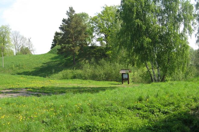 Narkūnų den Hügel Werk und Siedlung