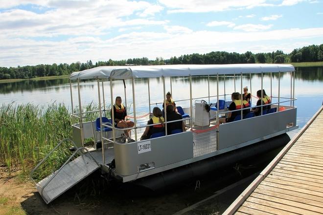 Pädagogische Bootsfahrt um den Galuonai See