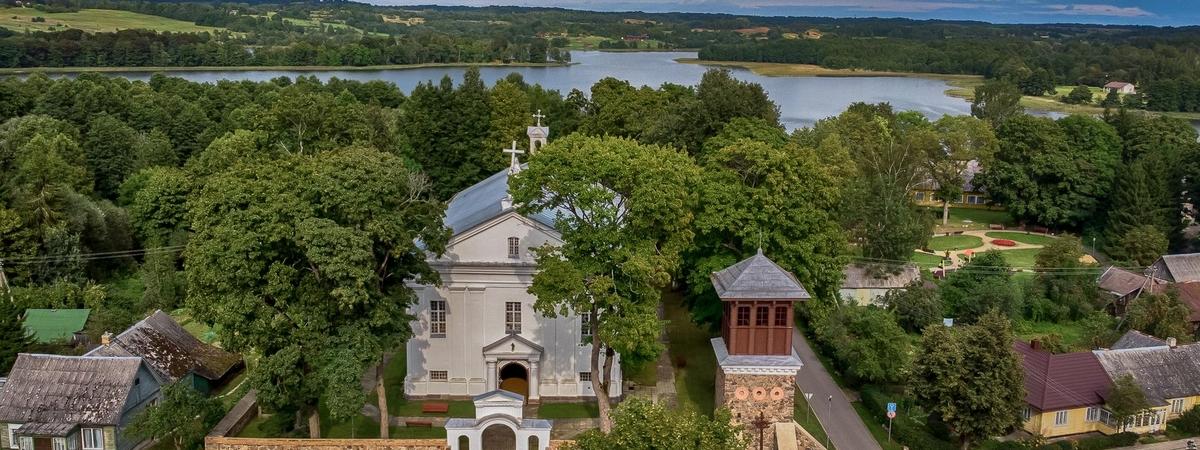Kościół i dzwonnica w Giedrojciach