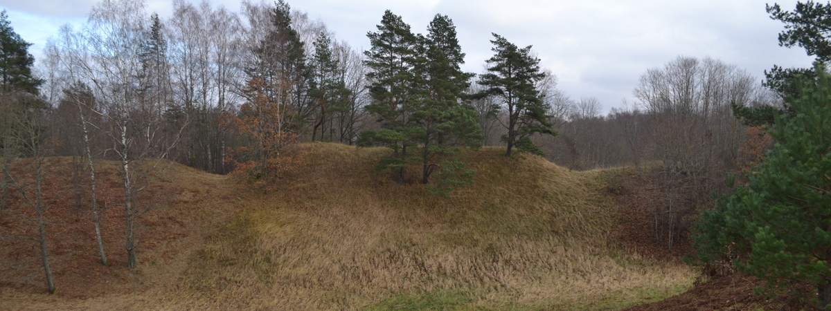 Tauragnai mound with the settlement