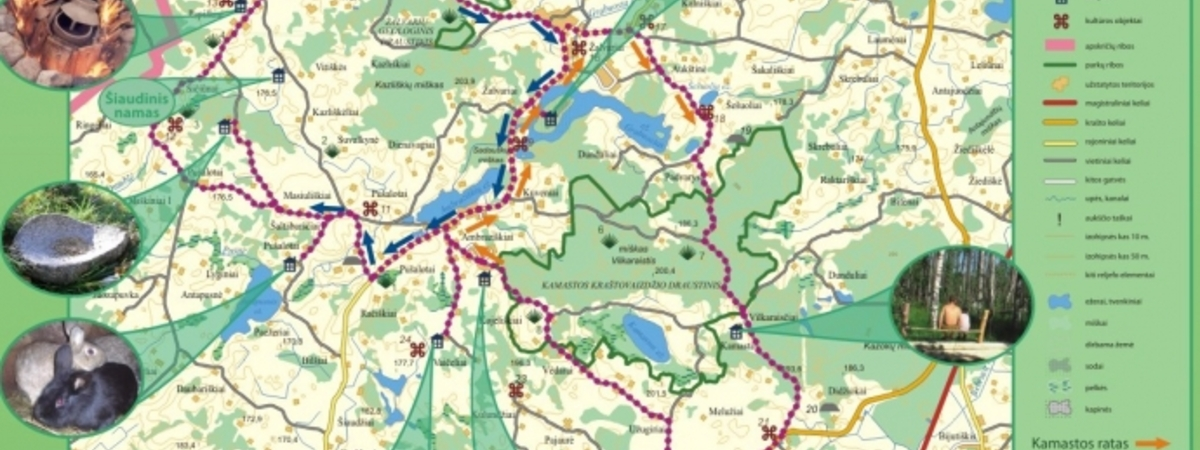 """Kamastos žiedas"" (Cognitive Bicycle Route)"