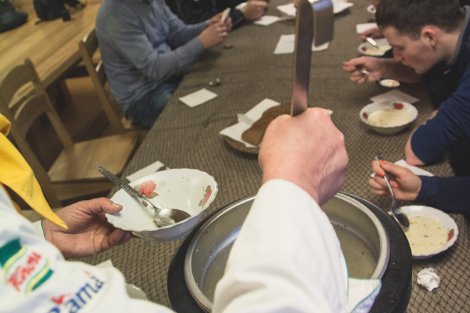 Fish soup education in Mindūnai